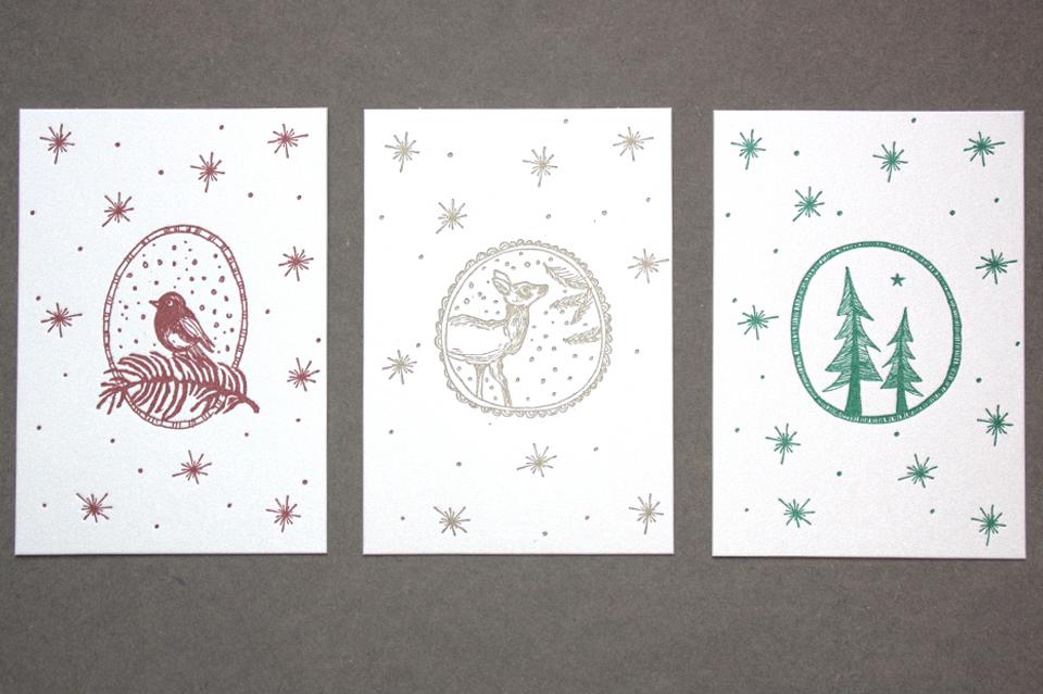 Letterpress alle Karten
